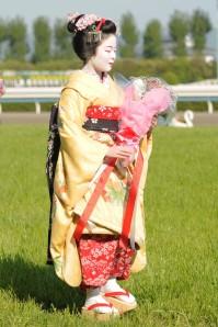 Maiko at Kyoto Racecourse