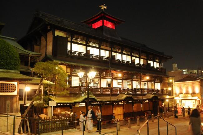 Dogo Onsen at night