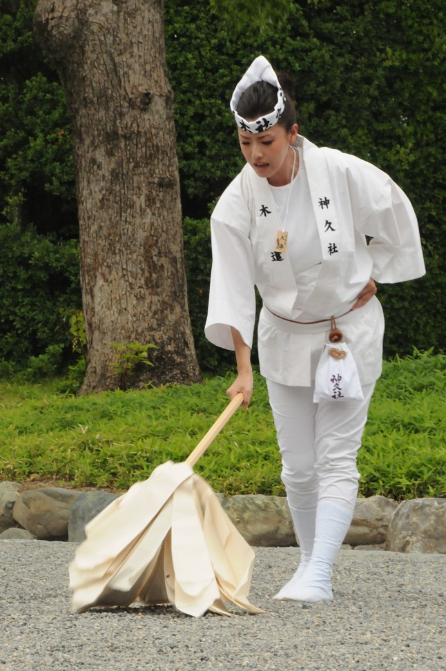 Ceremony at Ise Jingu's outer shrine.