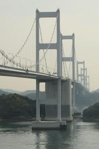 Kurushima Kaikyo Bridge.