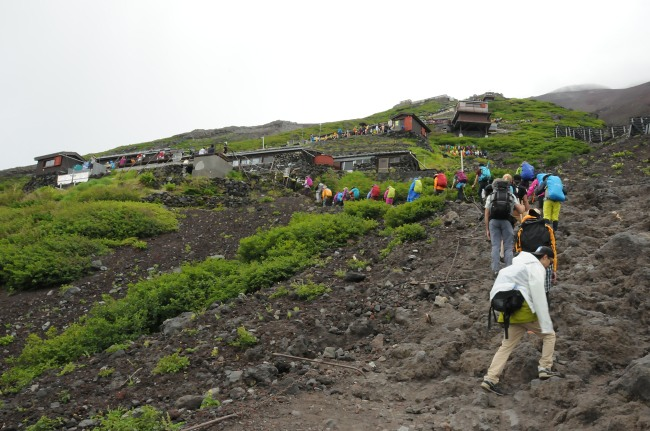 Mt Fuji mountain huts