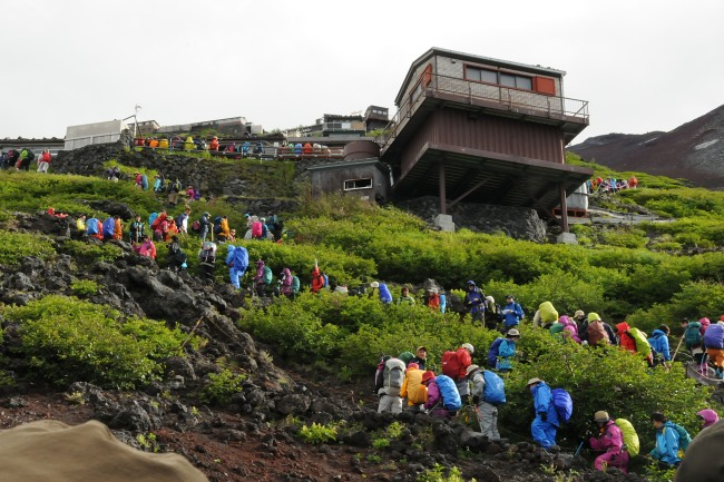 mountain huts on Mt Fuji