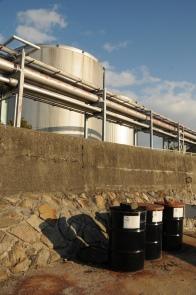 Barrels v tanks.