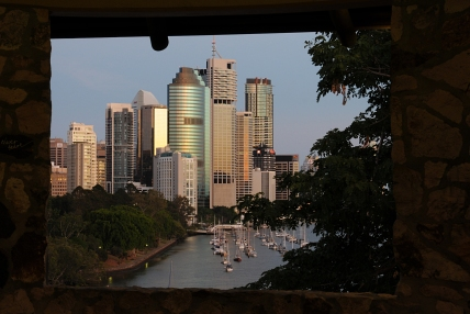 Downtown from the Kangaroo Point Cliffs.
