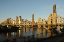 Downtown from beside the Story Bridge