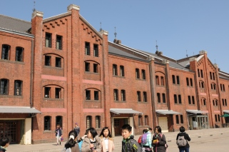 Yokohama Red Brick Warehouses, a trendy lunch spot.