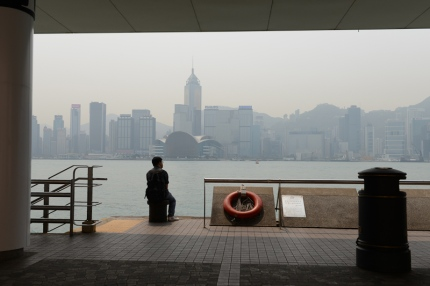 View of HK Island from Kowloon.