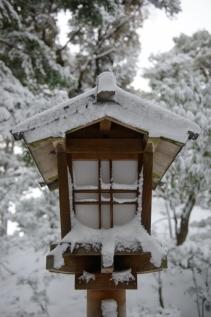 A snow blasted lantern.