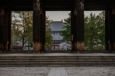 Dawn over Todaiji, in Nara.