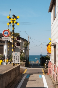 Road to the beach at Amaharashi.
