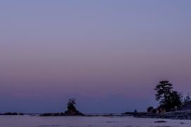 Sunset at Amaharashi, Toyama Prefecture.
