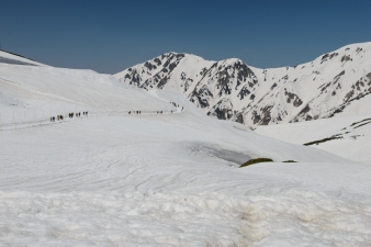 The Scenic Walk at Murodo Station, on the Tateyama Kurobe Alpine Route.