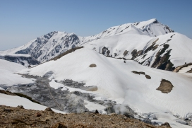 Tateyama National Park, along the Tateyama Kurobe Alpine Route. The path below is closed due to dangerous volanic gases.