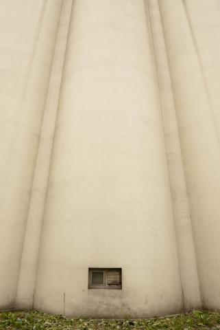 Old silos in Otaru, Hokkaido, Japan.