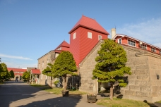 The immaculate and very Scottish factory buildings, Nikka Distillery, Hokkaido, Japan.