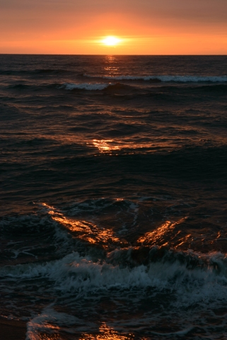 Sunset over the sea of Japan, Ishikawa Prefecture.