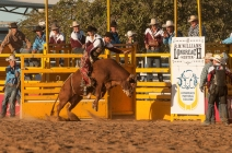 State of Origin Rodeo, RM Williams Muster, Longreach, Queensland, Australia.