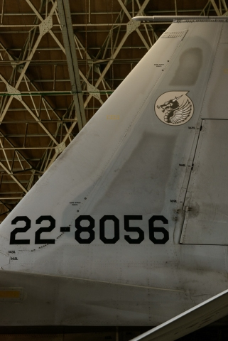 Tail of the F-15J.