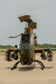 A nimble attack helicopter, the AH-1 Cobra..